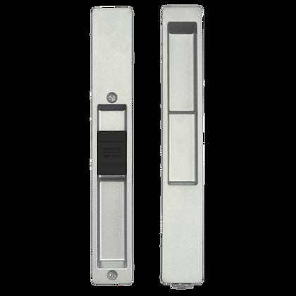 ADAMS RITE 4100 Series Flush Handle Set - 4189 Silver (No Cylinder)