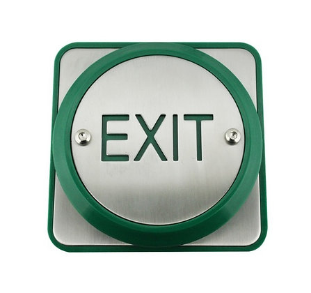 Extra Large Stainless Steel Exit Button