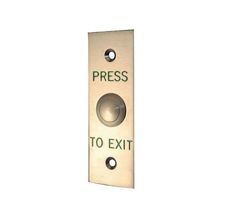 Slimline Rectangle Exit Button