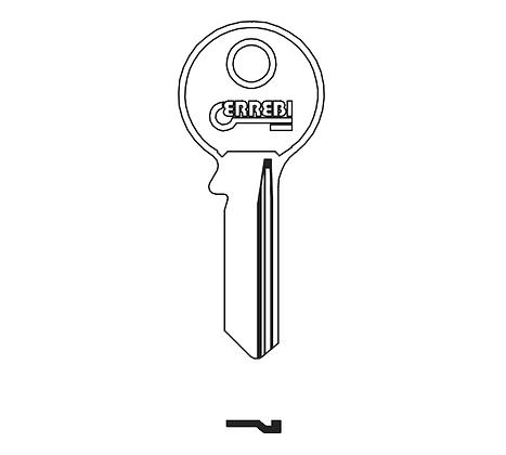 Abus AU14R Errebi Cylinder Key Blank (ABU-4D / 104AR / AB14R)