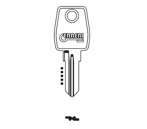 L&F/Euro LF25R Errebi Auto/Domestic Key Blank (JMA LF-11D / HD LF43 / LF45L / LF-25)