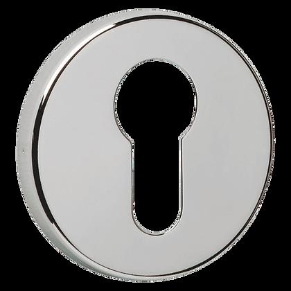 URFIC Easy Click Euro Profile Escutcheon - Polished Nickel