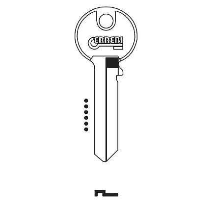 Tricircle TR7R Errebi Cylinder Key Blank