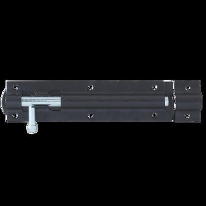 ASEC Straight Tower Bolt - Black - 150mm