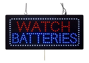 LED Watch Batteries Advertising Sign