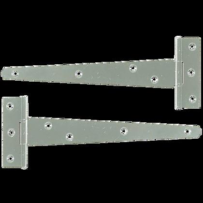 ASEC Medium Tee Hinge - Zinc Plated - 400mm (Pair)
