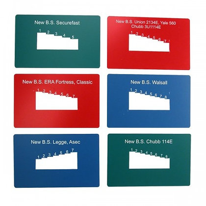 ICL British Standard Key Reader Cards Kit (6 Pack)