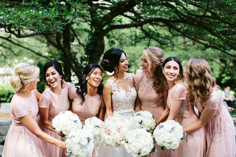 Bridal Party in Blush Pink