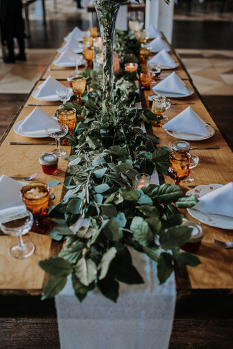 Greenery Table Runner by Naomi Anderson Events
