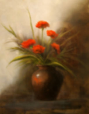 Red Carnations by Materese Roche