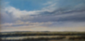 Fine Art Prints, landscape dramatic clouds over marshes