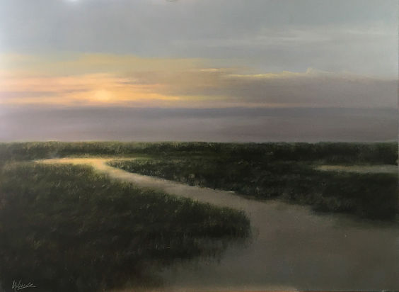 Materese Roche, A Soft Evening and Salt Air, Oil on Panel