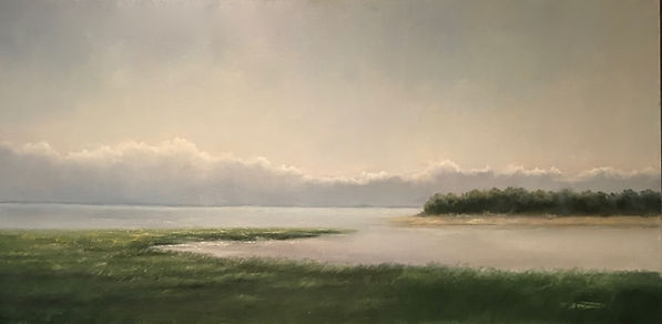 atmospheric landscape painting Cape Cod