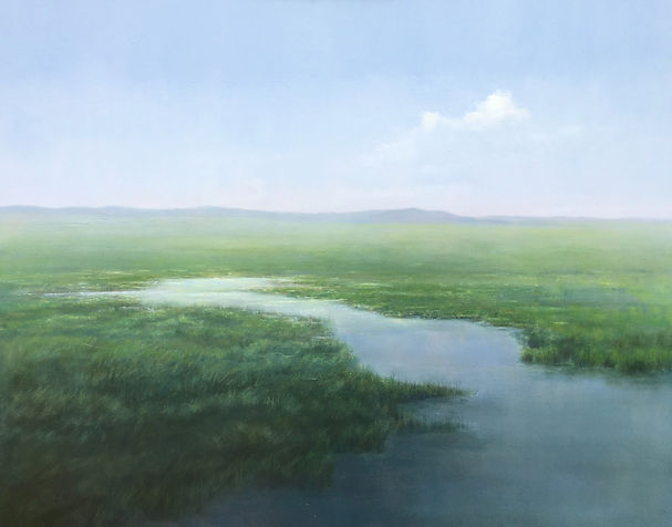 Materese Roche, Mist in the Distance, Oil on Linen