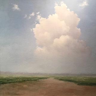 atmospheric clouds landscape oil painting
