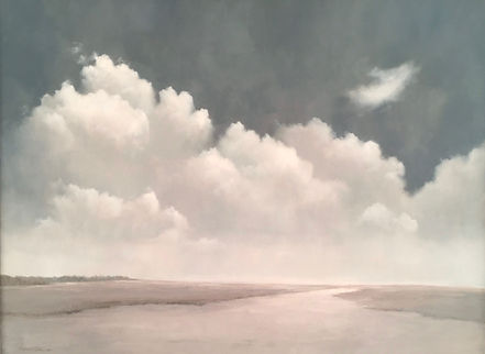 New England Clouds, Oil on Canvas, 30 x 40