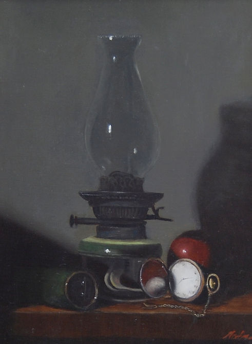 Reflections, Oil on Linen, Materese Roche