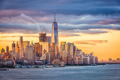 New York City financial district on the