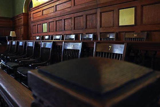 Authentic restored antique jury's box in