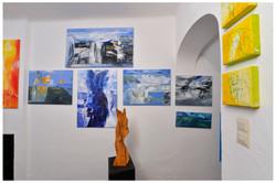Wand mit Island Bildern