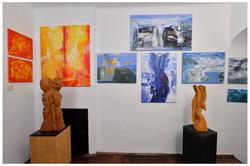 Kunstwerke in der Galerie