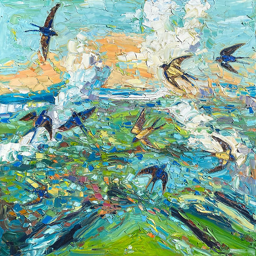 Flying Swallows (Available for purchase at The Mystic Trinity Gallery only)