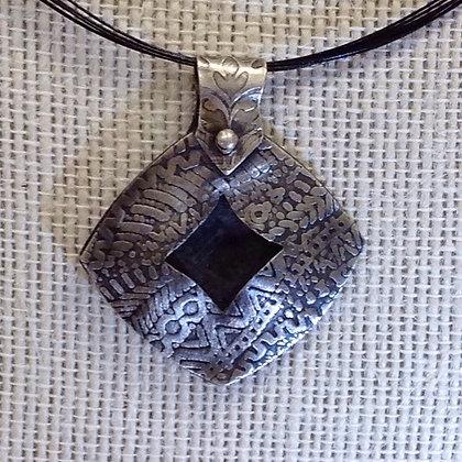 Cushion silver pendant