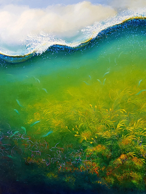 Underwave, oil on canvas, 48 x 60 inches
