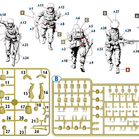 35219 US Paratroopers 1944 assembly guide