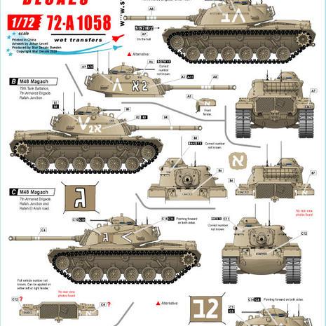 72-A 1058 Magach & AMX-13
