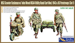 US Airborne Cushman m/c and Trailer in 1/35