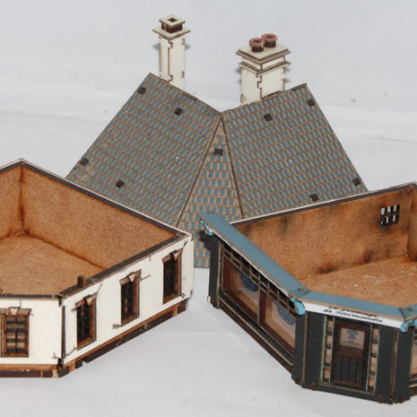 Sections to allow wargame figures to be put inside