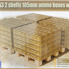 Gecko British 105mm Ammo Boxes on Pallets in 1/35