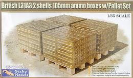 British 105mm Ammunition Box Pallets in 1/35