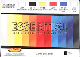 LifeColor Essential Basic & Primary Colours Set 3 (Gloss)