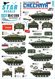Chechnya, 3 new 1/35 Decal sets