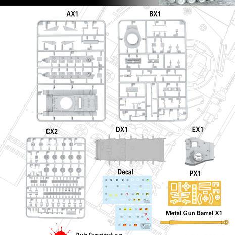 Vespid A-34 Comet Mk.1B Parts layout