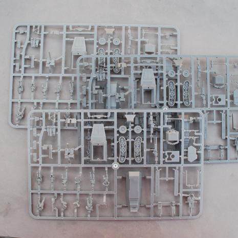3 Sprues in the box