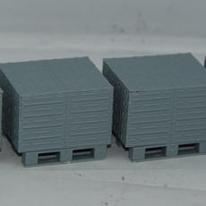 Gecko British 105mm Ammo Boxes on Pallets in 1/35, built