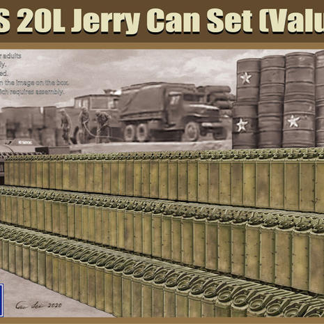 Gecko Models, US 20l Jerry Can Set in 1/35