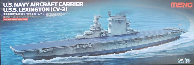 Meng USS Lexington in 1/700 | Robin Buckland's Military