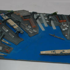 Paints used on the diorama base