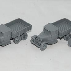 Assembled trucks, tilts off