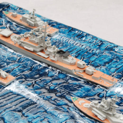Deep Ocean blue used as a base for Cold War 1/700 Soviet warships