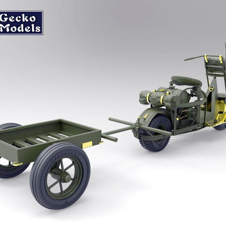 Gecko M53 Cushman and Trailer in 1/35