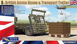 British Ammo Box Pallet & ATMP Trailer in 1/35
