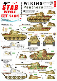 3 New 1/72 Decal Sets for vehicles of Wiking, SS Panzer Regiment 5