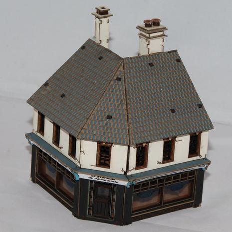 15mm scale Corner Shop built