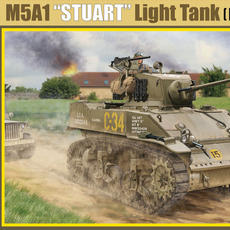 Classy Hobby, 1/16M5A1 Stuart (Early production) Box art