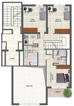דירה 2 קומה ב